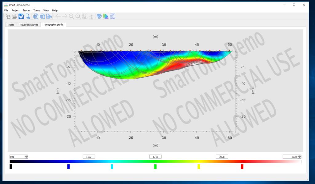 Profilo tomografico mostrato alla fine dell'elaborazione di SmartTomo.